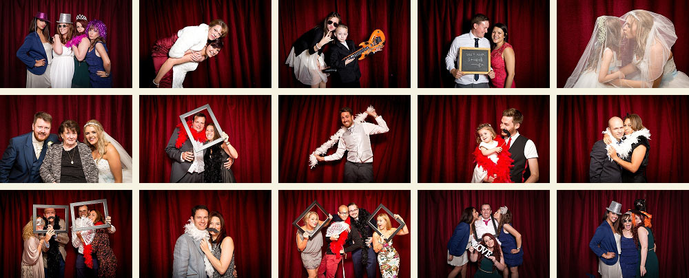 wedding guest pictures from the photobooth